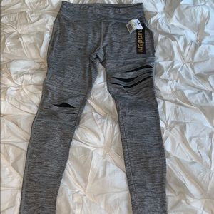 Pants - Gray Madden Yoga Pants With Black Detailing